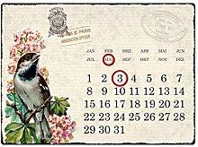 INTERLUXE WANDKALENDER Blechschild Kalender
