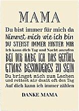 Interluxe Wandtafel Mama du bist Immer für Mich