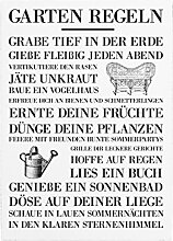 Interluxe WANDTAFEL Schild Garten Regeln Vintage