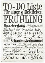 Interluxe WANDTAFEL to DO Liste FRÜHLING Vintage