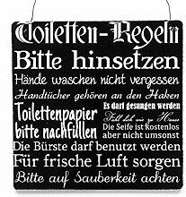 Interluxe XL Shabby Vintage Schild Türschild