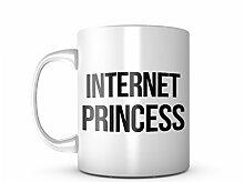 Internet Princess Komisch Keramik Tasse Kaffee Tee