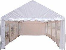 interouge-Zelt Rezeption 4x 8m aus Stahl und PVC 480g/m² Pavillon Barnum Chapiteau weiß