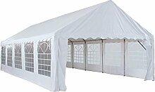 interouge-Zelt Rezeption 5x 10m aus Stahl und PVC 480g/m² Pavillon Barnum Chapiteau weiß