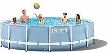 Intex 18FT X 48IN Prism Frame Pool Set, hellblau, 549x549x122 cm, 24,311 L, 28752GN