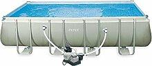 Intex 28352uk-5218x 9ft rechteckig Ultra Frame Pool Set, grau/blau
