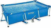 Intex 322990Pool rechteckig, Pumpe Fil 1000L, 300x 200x 75cm