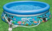 INTEX 54902 EASY-SET Oceanreef Pool mit