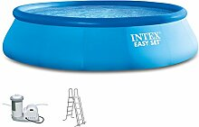 Intex 549x122 cm Easy Komplett-Set bestehend aus Swimming-Pool, Filter-pumpe und Pool-Leiter 289153