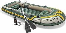 INTEX 68351 Boot Seahawk 4 Schlauchboot Angelboot