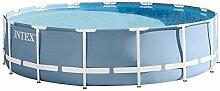 Intex AGP Zubehör Pool Prisma Frame mit Filterpumpe, Leiter, Abdeckplane Base und, Hellblau, 51.4X 50.8x 124.5cm