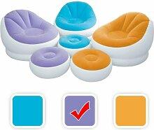 Intex aufblasbarer Lounge Sessel mit Fußbank in 3 Farben, Farbe:Viole