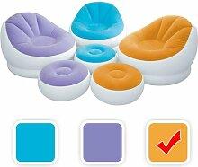 Intex aufblasbarer Lounge Sessel mit Fußbank in 3
