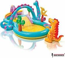 Intex Dinoland aufblasbarer Pool mit Rutsche,