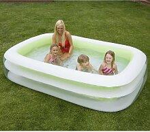 INTEX Familienpool, ca. 749 L, 2 Luftkammern, Doppelventil, Bodenablassventil: Swimming Pool Planschbecken Schwimmbecken Schwimmbad XXL