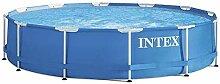 Intex Metal Frame Aufstellpool mit Pumpe,  blau,