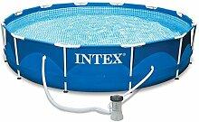 INTEX MetalFrame Aufstellpool mit Metallrahmen und