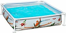 Intex Planes piscinette Rohrmotor Carre grau und orange 122 x 122 x 30 cm 340 L