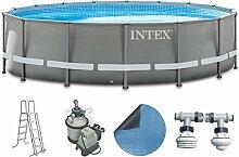 Intex Pool 549x132 cm Schwimmbad Stahlwand