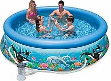 Intex Pool Easy Ocean mit Pumpe Filter 366 x 76 cm blau