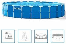 Intex Pool mit Stahlrahmen 732 x 132 cm rund