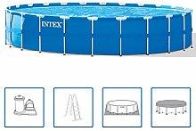 Intex Pool mit Stahlrahmen 732 x 132 cm rund 28262GN