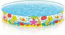 INTEX Pool schnorchelnde Freunde 152x25cm, ca. 450 Liter, schneller Auf-und Abbau // Steilwand Pool Planschbecken Kinder-Schwimmbecken Schwimmbad Kinderpool