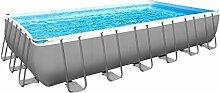 Intex Pool Ultra Frame rechteckig mit Pumpe A Sand, Leiter Doppel, Tuch base-copertura I.1 732x366