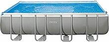 Intex Pool Ultra Frame rechteckig mit Pumpe A Sand, Leiter Doppel, Tuch base-copertura I.1 549x274