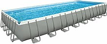Intex Pool Ultra Frame rechteckig mit Pumpe A Sand, Leiter Doppel, Tuch base-copertura I.1 975x488