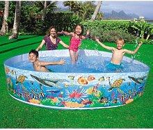 INTEX Steilwandpool 244x46 cm, schneller Auf-und Abbau, ca. 2089 Liter // Steilwand Pool Planschbecken Kinder-Schwimmbecken Schwimmbad Kinderpool