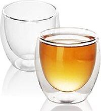 Intirilife Thermoglas, Glas, 2x Doppelwandiges