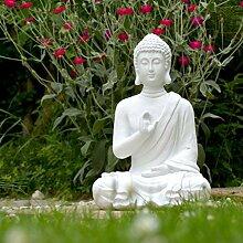 INtrenDU Buddha Figur Statue weiß 40cm Dekoration