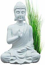 INtrenDU Buddha Figur Statue weiß 54cm Dekoration