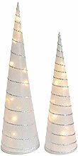 INtrenDU Weihnachtspyramiden im Set 47/58cm LED