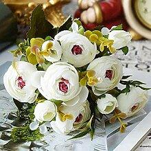 INTRERSTING 10 Vintage Seidenblumen Retro Tee