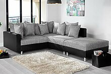 Invicta Interior Design Ecksofa mit Hocker LOFT