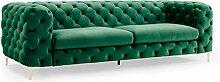 Invicta Interior Extravagantes Samt Sofa MODERN