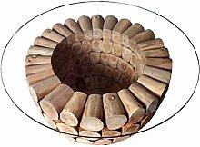 Invicta Interior Massiver Teak Holz Couchtisch