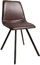 Invicta Interior Retro Stuhl Amsterdam Chair Braun