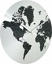 Invotis Metall Wanduhr World 40 cm