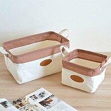 Inwagui 2er Set Aufbewahrungsbox Baumwolle