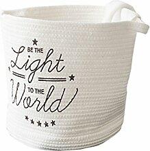 Inwagui Weiß Aufbewahrungsbox aus Baumwolle