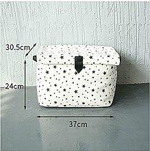 Inwagui weiß stoff Leinen Aufbewahrungsbox Groß