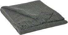 INWOOL Alpaka Wolldecke Kuscheldecke Plaid Decke 150x200cm - Kollektion Classic - Grau