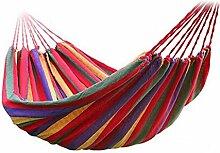 inymuse Tragbare Outdoor Double Hängematte Garten Sport Home Reisen Camping Swing Leinwand Streifen Aufhängen Bett, ro
