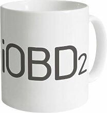 iOBD2 Logo Becher, Weiß
