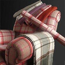 Iona 'rostbraun Uni': Rot Wolle Polstermöbel Sofa Kissen Flammschutzmittel Stoff Material aus loome Stoffe, Iona 'Russet Plain' : Red, per metre