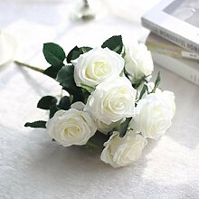 Iopu Künstliche Seidenrosen, Blumenstrauß,