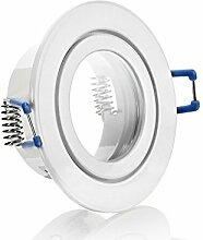 IP44 Alu- Feuchtraum Badezimmer Einbaurahmen Weiß